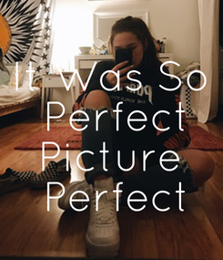 Poster: It Was So  Perfect Picture  Perfect