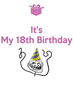 Poster: It's My 18th Birthday