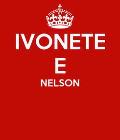 Poster: IVONETE E NELSON
