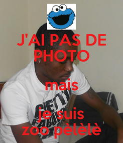 Poster: J'AI PAS DE PHOTO mais je suis zoo pèlèlè