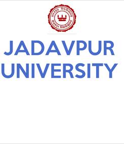 Poster: JADAVPUR  UNIVERSITY
