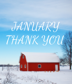 Poster: JANUARY THANK YOU