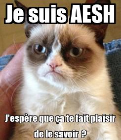 Poster: Je suis AESH J'espère que ça te fait plaisir de le savoir  ?