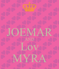 Poster:  JOEMAR AND Lov MYRA