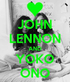 Poster: JOHN LENNON AND YOKO ONO