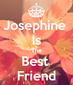 Poster: Josephine  Is The Best  Friend
