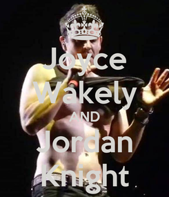 Poster: Joyce Wakely AND Jordan Knight