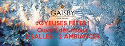 Poster: JOYEUSES FÊTES ! Ouvert dès minuit  2 SALLES - 2 AMBIANCES