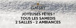 Poster: JOYEUSES FÊTES ! TOUS LES SAMEDIS  2 SALLES - 2 AMBIANCES