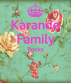 Poster: Karande Family Rocks