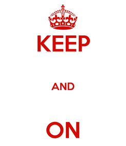 Poster: KEEP  AND  ON