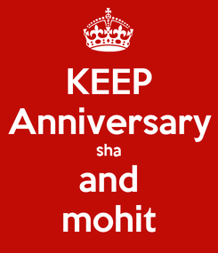 Poster: KEEP Anniversary sha and mohit