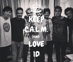 Poster: KEEP C.A.L.M. AND LOVE 1D