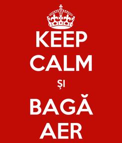 Poster: KEEP CALM ŞI BAGĂ AER