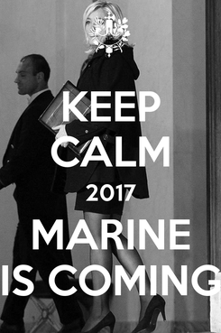 Poster: KEEP CALM 2017 MARINE IS COMING