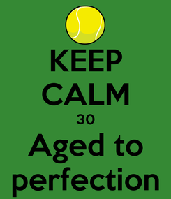 Poster: KEEP CALM 30 Aged to perfection