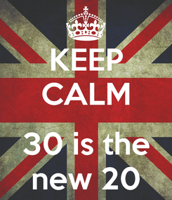 Poster: KEEP CALM  30 is the new 20