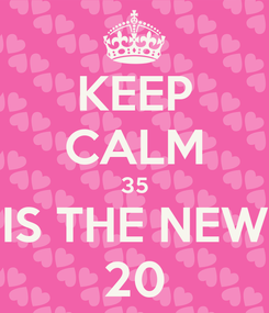 Poster: KEEP CALM 35 IS THE NEW 20