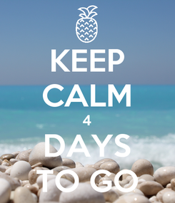 Poster: KEEP CALM 4 DAYS TO GO