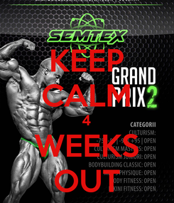 Poster: KEEP CALM 4 WEEKS OUT