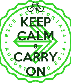 Poster: KEEP CALM 8 CARRY ON