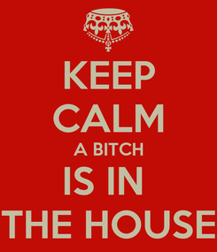 Poster: KEEP CALM A BITCH IS IN  THE HOUSE