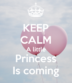 Poster: KEEP CALM A little Princess Is coming