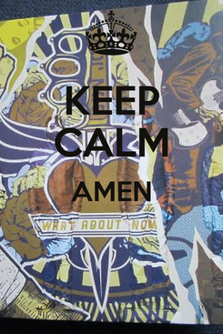 Poster: KEEP CALM AMEN
