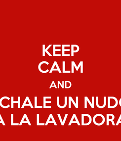 Poster: KEEP CALM AND ÉCHALE UN NUDO A LA LAVADORA