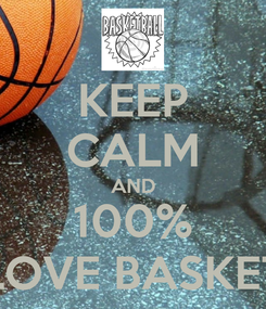 Poster: KEEP CALM AND 100% LOVE BASKET