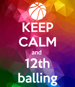 Poster: KEEP CALM and  12th balling