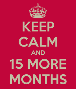 Poster: KEEP CALM AND 15 MORE MONTHS