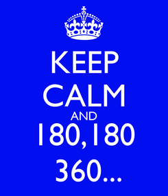 Poster: KEEP CALM AND 180,180  360...
