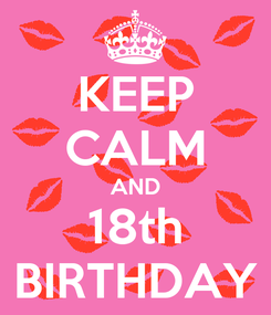 Poster: KEEP CALM AND 18th BIRTHDAY