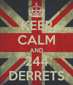 Poster: KEEP CALM AND 244 DERRETS