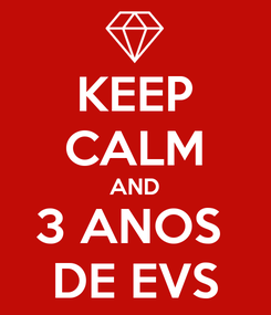 Poster: KEEP CALM AND 3 ANOS  DE EVS