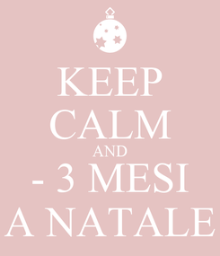 Poster: KEEP CALM AND - 3 MESI A NATALE