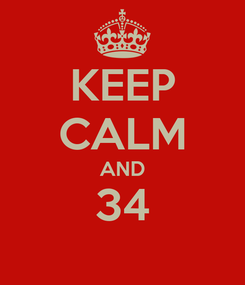 Poster: KEEP CALM AND 34