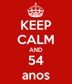 Poster: KEEP CALM AND 54 anos