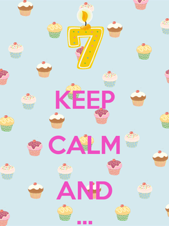 Poster:  KEEP CALM AND ...