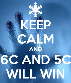 Poster: KEEP CALM AND 6C AND 5C WILL WIN