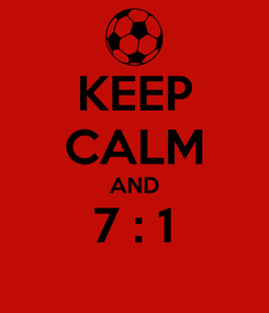 Poster: KEEP CALM AND 7 : 1