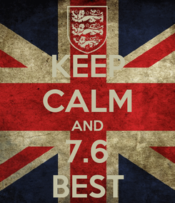 Poster: KEEP CALM AND 7.6 BEST