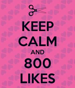 Poster: KEEP CALM AND 800 LIKES