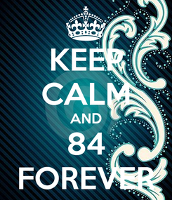 Poster: KEEP CALM AND 84 FOREVER