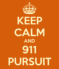 Poster: KEEP CALM AND 911 PURSUIT
