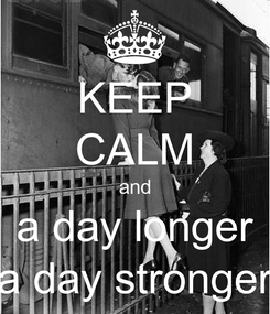 Poster: KEEP CALM and a day longer a day stronger