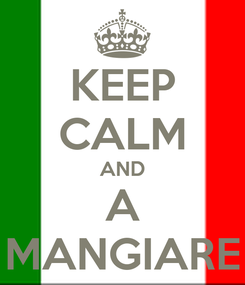 Poster: KEEP CALM AND A MANGIARE