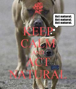 Poster: KEEP CALM AND ACT NATURAL