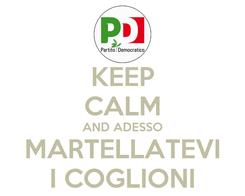 Poster: KEEP CALM AND ADESSO MARTELLATEVI I COGLIONI